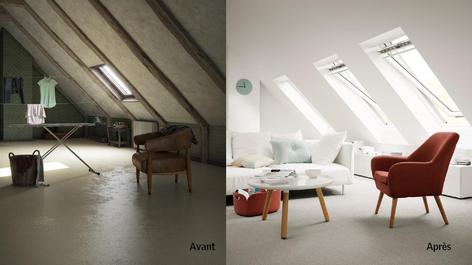 amenager combles fenetres de toit velux