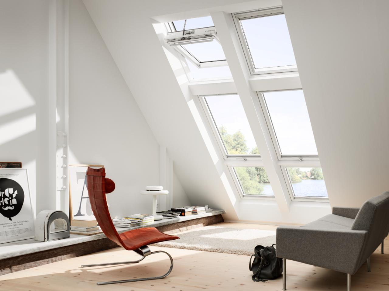 fenêtre de toit velux a ciel ouvert