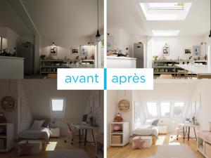 Faire entrer la lumière naturelle air frais habitation fenêtre de toit velux pose