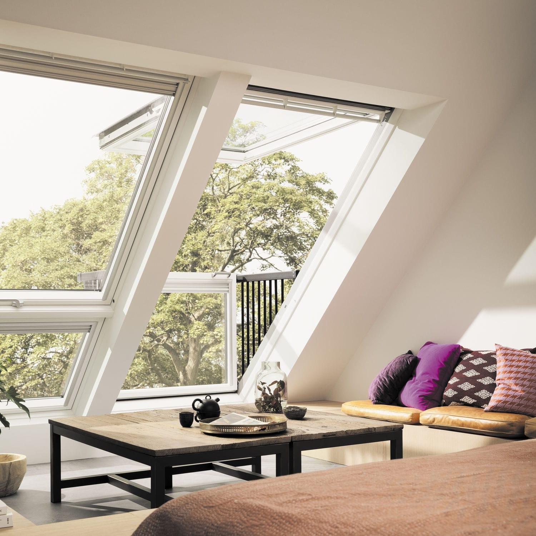 Fenêtre balcon velux a ciel ouvert projection