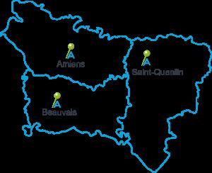 Carte Picardie - A CIEL OUVERT