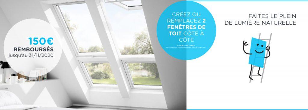 verrière VELUX promotion fenêtre de toit