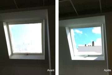 Remplacer fenêtre de toit